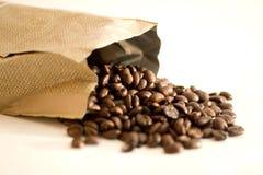 paquet de café d'haricots Photographie stock