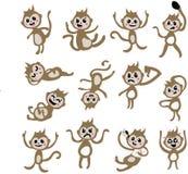 Paquet de caractère de singe Images stock