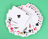 Paquet de cartes de jeu Photographie stock libre de droits