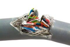Paquet de câbles de couleur Photos stock