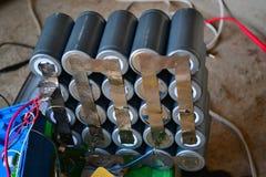 Paquet de cellules rechargeables Photos libres de droits