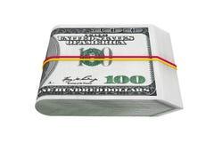 Paquet de cent dollars Photographie stock libre de droits
