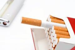 Paquet de cigarette photographie stock