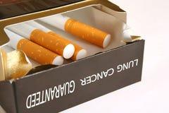 Paquet de cigarette photo libre de droits