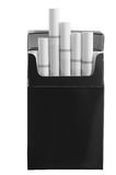 Paquet de cigarette. D'isolement Photographie stock libre de droits