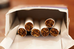 Paquet de cigarettes Photo libre de droits