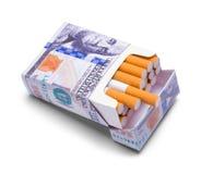 Paquet de cigarettes d'argent Photographie stock