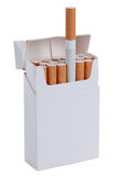 Paquet de cigarettes, d'isolement photo stock
