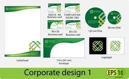 Paquet de conception d'entreprise illustration stock