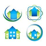 Paquet de conceptions de l'avant-projet de logo de Real Estate illustration stock