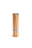 Paquet de crayons de couleur avec une bande élastique Images stock