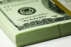Paquet de dollars Photo stock