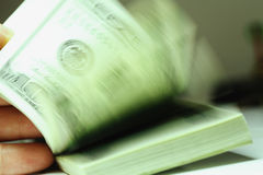 Paquet de dollars Image libre de droits