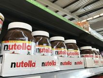 Paquet de famille de diffusion de cacao de nutella photos stock