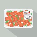 Paquet de fraise Images stock