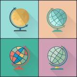 Paquet de globe d'école Images libres de droits