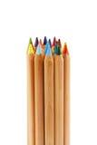 Paquet de grands crayons de couleur Photographie stock libre de droits