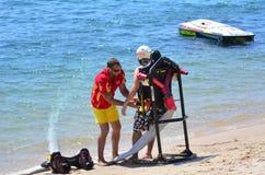 Paquet de jet dans l'Australie de la Gold Coast Queensland Image stock