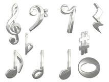 paquet de la musique 3D Image stock