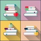 Paquet de livres d'école Photo libre de droits
