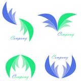 Paquet de logo de compagnie Images libres de droits