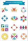 Paquet de logo de la Communauté et d'unité Image stock