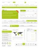 Paquet de navigation de site Web Photos stock
