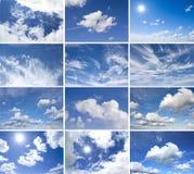 Paquet de nuages de panorama Photos stock