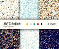 Paquet de papier de Digital, 6 modèles abstraits Milieux géométriques abstraits illustration stock