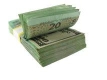 Paquet de papier-monnaie Photo libre de droits