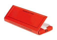 Paquet de papiers de roulement de Rizla photographie stock