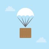 Paquet de parachute Photographie stock