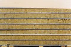 Paquet de prêt isolé viable de panneau 'sandwich' pour le bâtiment de mur image libre de droits