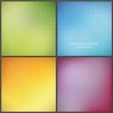Paquet de quatre coloré milieux de maille avec les modèles mous. Photographie stock libre de droits
