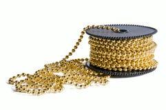 Paquet de réseau d'or de décoration Image stock