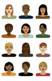 Paquet de sourire d'avatars illustration libre de droits