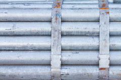 Paquet de tuyau d'acier galvanisé photographie stock