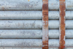Paquet de tuyau d'acier galvanisé photographie stock libre de droits
