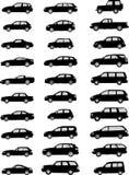 Paquet de silhouettes de voiture Photographie stock libre de droits