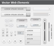 Paquet de vecteur plat de kit d'ui de conception pour le webdesign dans la couleur rose Ensemble d'éléments plat de conception de Images stock