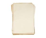 Paquet de vieux papiers images stock