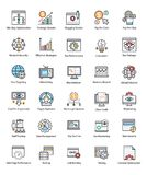 Paquet de Web et de Seo Flat Vector Icons illustration de vecteur