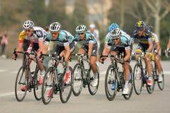 Paquet des cyclistes du quickstep d'Omega Pharma Photographie stock libre de droits