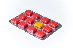 paquet différent d'excentrique de gomme de concept coloré par ampoule photo libre de droits