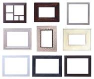 Paquet en bois de cadres de tableau Images stock