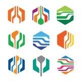Paquet hexagonal abstrait Logo Template Design Vector illustration libre de droits