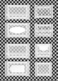 Paquet humide transparent de chiffons avec l'aileron illustration libre de droits