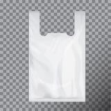 Paquet jetable blanc de sachet en plastique de T-shirt Transparent d'isolement par illustration de vecteur illustration libre de droits