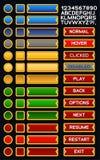 Paquet médiéval de boutons de jeu Image stock