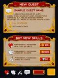 Paquet médiéval de GUI de jeu Photographie stock libre de droits